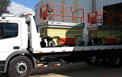 Remoção de veículos e equipamentos